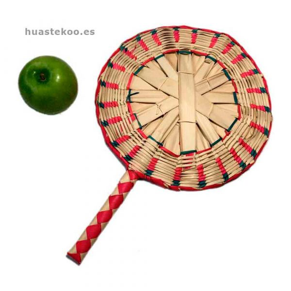 Abanico artesanal mexicano Ref. 500001 - Tienda Mexicana Huastekoo.es - 2