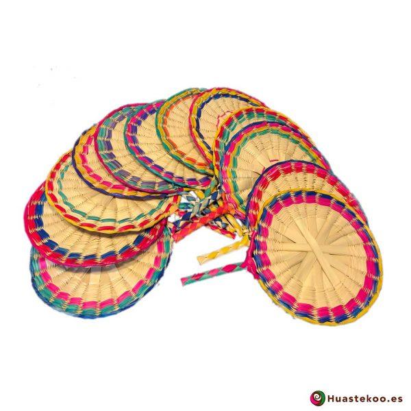Abanicos mexicanos artesanales de palma natural hechos a mano - Tienda Huastekoo España - H00572