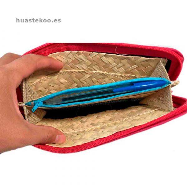 Billetera artesanal mexicana de palma natural - Tienda mexicana Huastekoo.es - 200002-3
