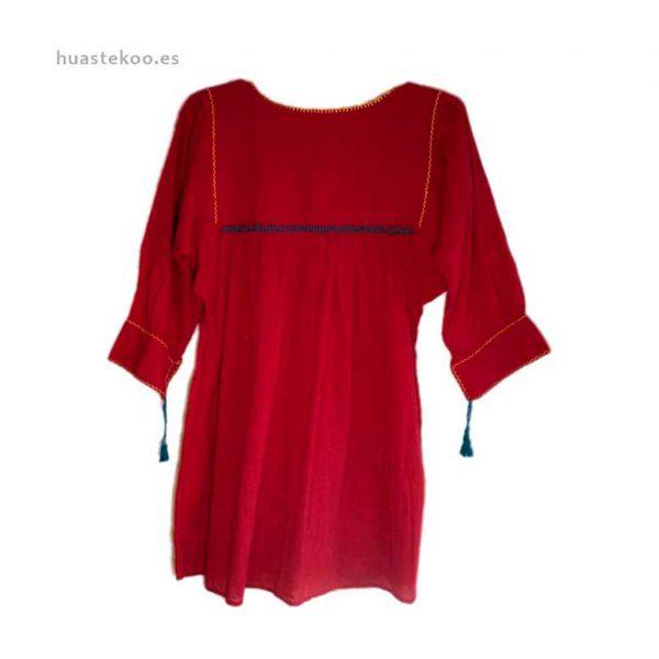 Blusa artesanal mexicana - Tienda mexicana Huastekoo.es en España - 800001 - 3