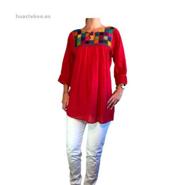 Blusa artesanal mexicana - Tienda mexicana Huastekoo.es en España - 800001-8
