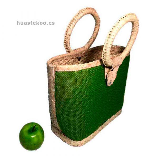 Bolso verde artesanal mexicano - Tienda mexicana Huastekoo.es - 100003 - 2