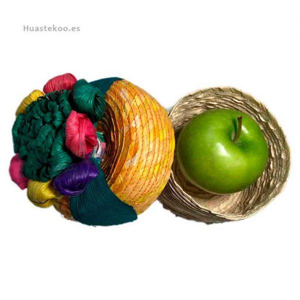 Joyero estuche artesanal mexicano de palma con flor de maíz - Tienda mexicana online - 400001 - 4