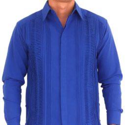 Guayabera mexicana azul - Tienda mexicana online - A100001 - 2