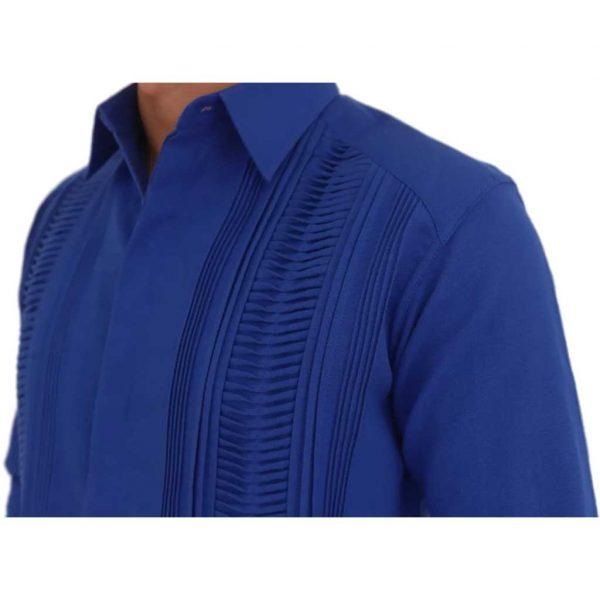 Guayabera mexicana azul - Tienda mexicana online - A100001