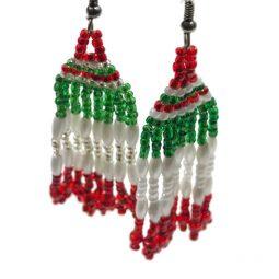 Pendientes mexicanos hechos a mano colores bandera mexicana - Tienda mexicana online - A110001 - 1