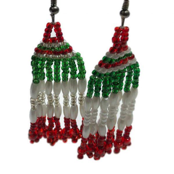 Pendientes mexicanos hechos a mano colores bandera mexicana - Tienda mexicana online - A110001 - 2