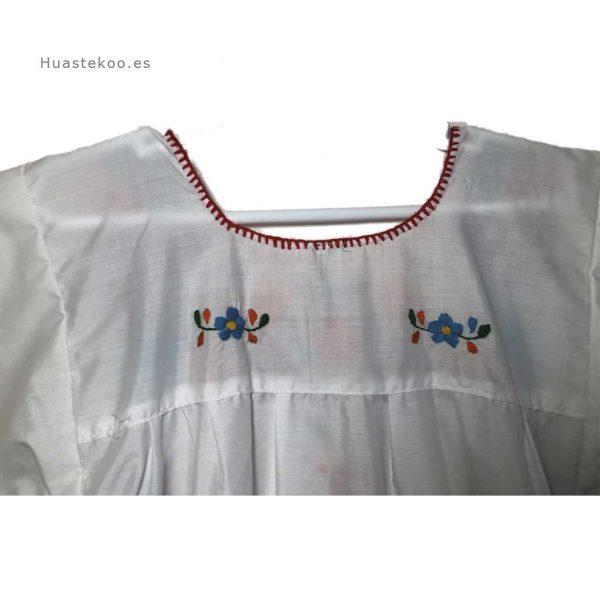 Vestido mexicano artesanal bordado a mano para verano o playa - Tienda mexicana online - 700004 - 5
