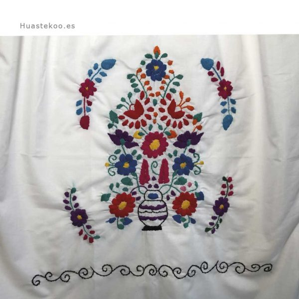 Vestido mexicano artesanal bordado a mano para verano o playa - Tienda mexicana online - 700004 - 7