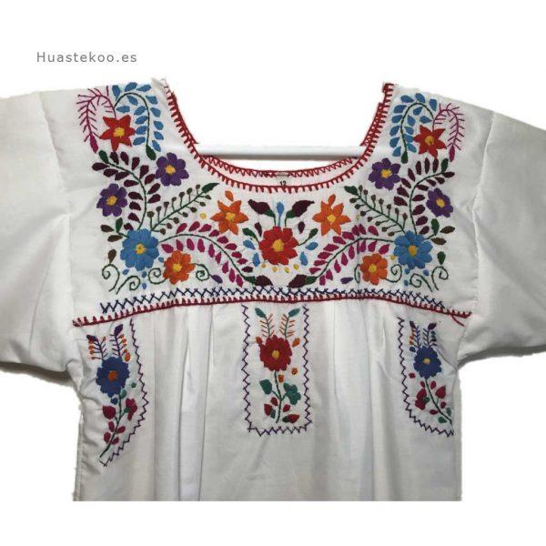 Vestido mexicano artesanal bordado a mano para verano o playa - Tienda mexicana online - 700004 - 8