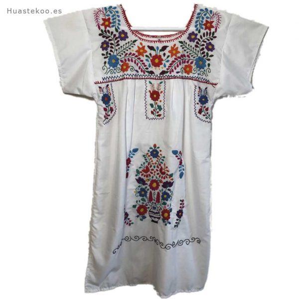 Vestido mexicano artesanal bordado a mano para verano o playa - Tienda mexicana online - 700004 - 9