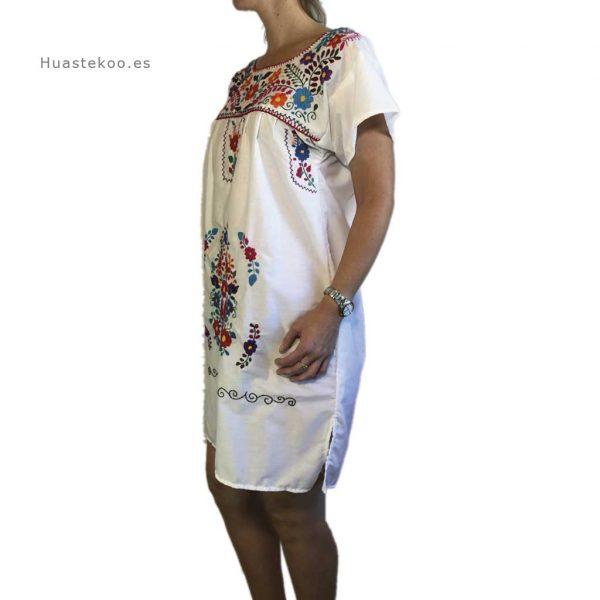 Vestido mexicano artesanal bordado a mano para verano o playa - Tienda mexicana online - 700004 - 2