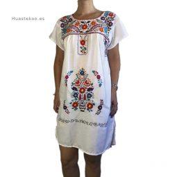 Vestido mexicano artesanal bordado a mano para verano o playa - Tienda mexicana online - 700004 - 3