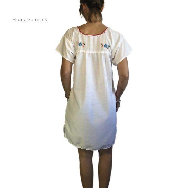 Vestido mexicano artesanal fresco bordado a mano para verano o playa - Tienda mexicana online - 700004