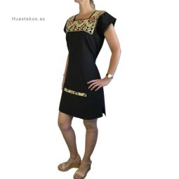 Vestido mexicano color negro - Tienda mexicana online - 700002 - 2