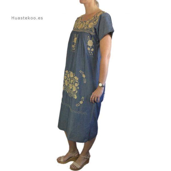 Vestido artesanal mexicano tehuacán bordado a mano - Tienda mexicana online Huastekoo.es - 700003 - 2