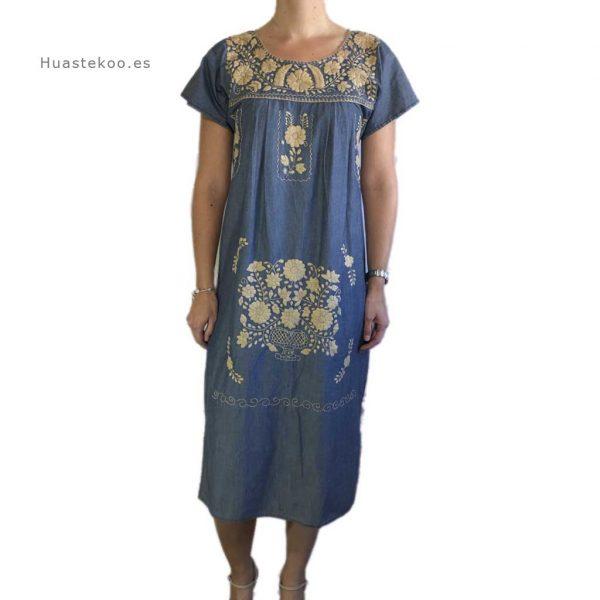 Vestido artesanal mexicano tehuacán bordado a mano - Tienda mexicana online Huastekoo.es - 700003 - 3