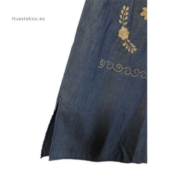Vestido artesanal mexicano tehuacán bordado a mano - Tienda mexicana online Huastekoo.es - 700003 - 4