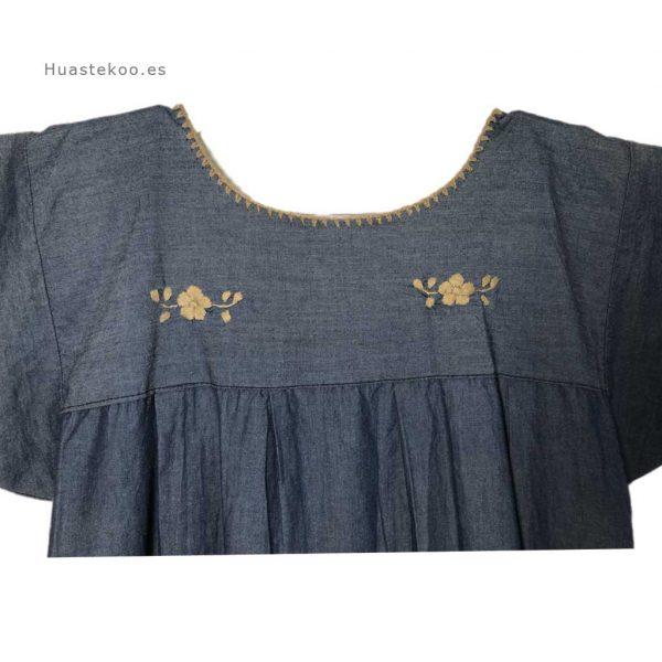 Vestido artesanal mexicano Tehuacán bordado a mano - Tienda mexicana online Huastekoo.es - 700003 - 5