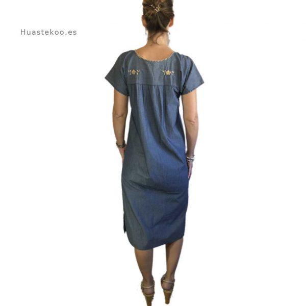 Vestido artesanal mexicano Tehuacán bordado a mano - Tienda mexicana online Huastekoo.es - 700003