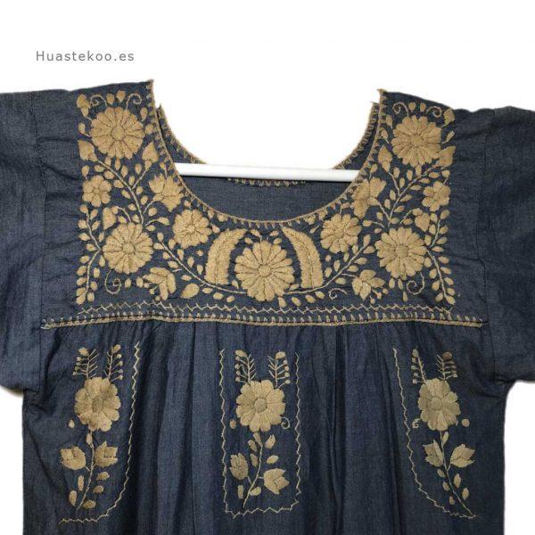 Vestido artesanal mexicano Tehuacán bordado a mano - Tienda mexicana online Huastekoo.es - 700003 - 8