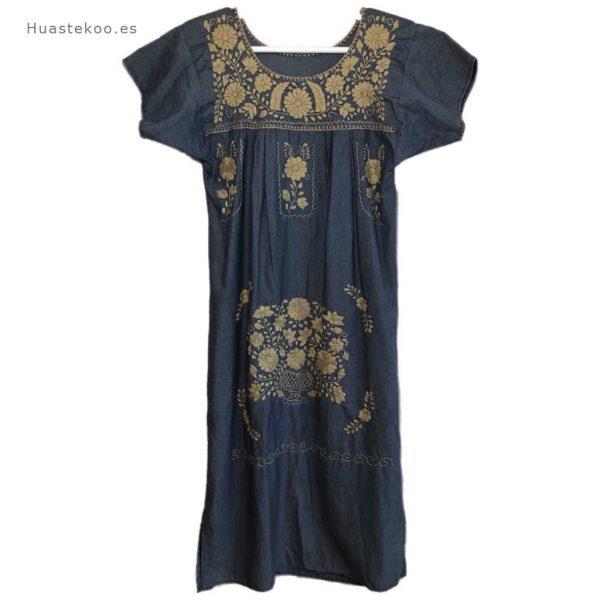 Vestido artesanal mexicano Tehuacán bordado a mano - Tienda mexicana online Huastekoo.es - 700003 - 9