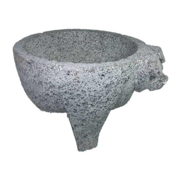Molcajete (mortero) mexicano de 20cm de diámetro de piedra volcánica - Tienda Mexicana Online - Huastekoo.es - 5