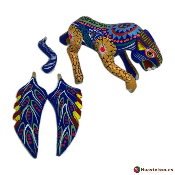 Alebrije Mexicano Artesanal Jaguar - Tienda Mexicana Online - Huastekoo.es - H00498 - 2