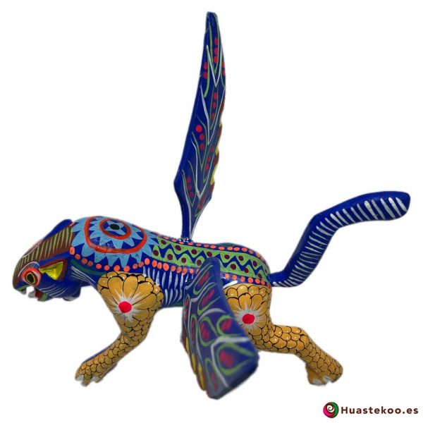 Alebrije Mexicano Artesanal Jaguar - Tienda Mexicana Online - Huastekoo.es - H00498 - 6
