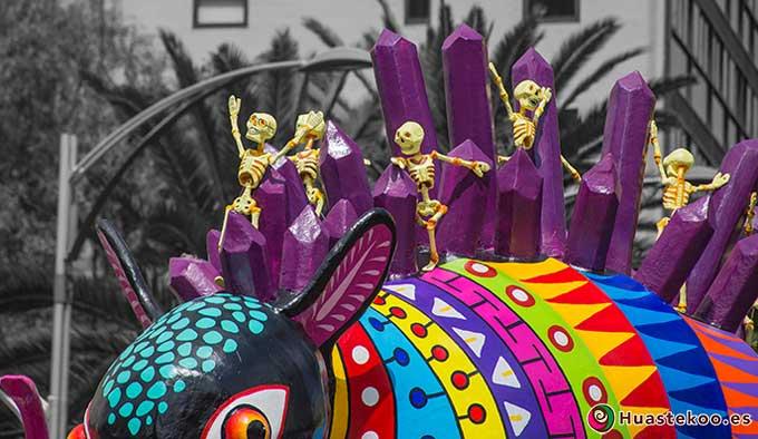 Alebrijes en el Día de Muetos o Todos Santos en México - Tienda Huastekoo.es
