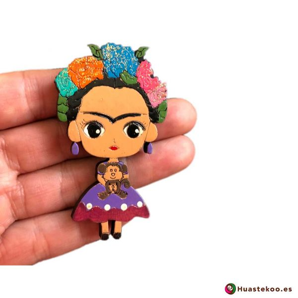 Imán Frida México Madera - Tienda Mexicana Online - Huastekoo.es - H00351 - 3