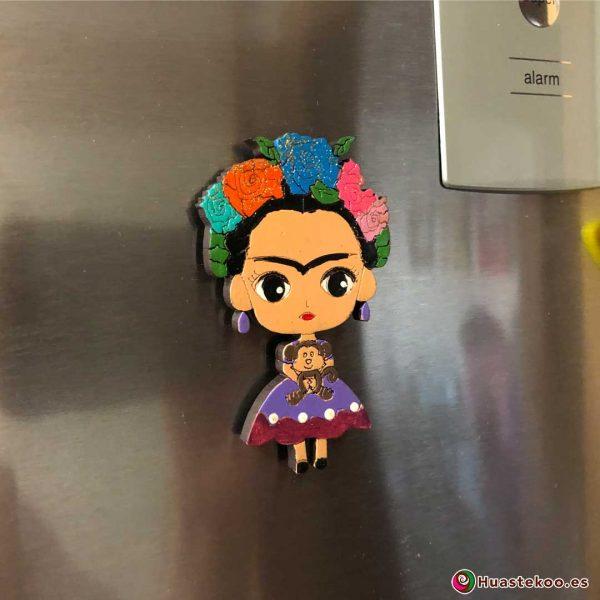 Imán Frida México Madera - Tienda Mexicana Online - Huastekoo.es - H00351 - 5
