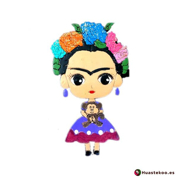 Imán Frida México Madera - Tienda Mexicana Online - Huastekoo.es - H00351