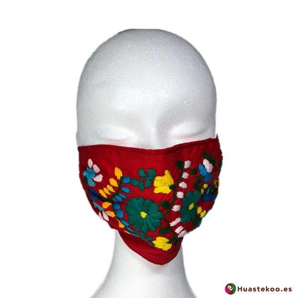 Mascarilla bordada a mano - Tienda Mexicana Online - Huastekoo.es