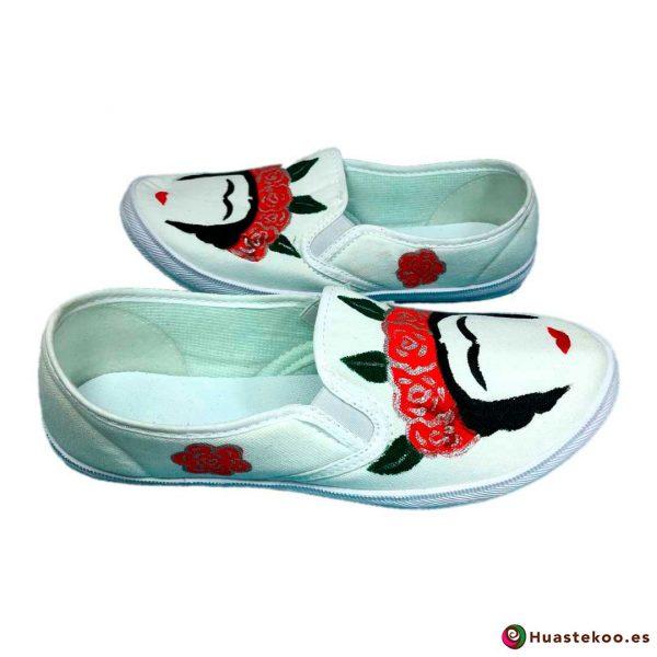 Zapatillas mexicanas pintadas a mano estilo Frida - Tienda Mexicana - Huastekoo.es - H00012 – 5