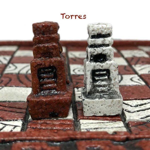 Torres Ajedrez Azteca - Tienda de Artesanías Mexicanas - Huastekoo.es