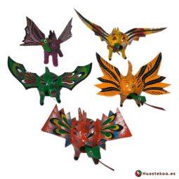 Pack de 5 alebrijes de cartón - Tienda Artesanías Mexicanas Online - Huastekoo.es