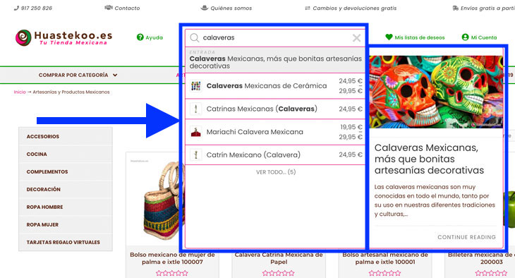 Buscador de la Tienda Mexicana Online - Huastekoo.es