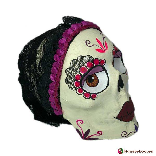 Calavera Catrina de Papel - Tienda de Artesanías Mexicanas - Huastekoo.es - 3
