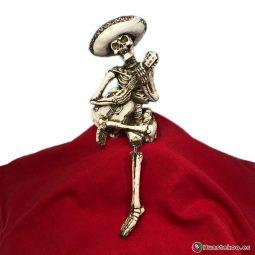 Calavera Mariachi Sentado - Tienda de Artesanías Mexicanas - Huastekoo.es