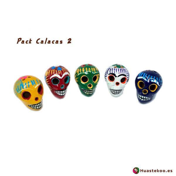 Calaveras Mexicanas Artesanales - Tienda Mexicana Online - Huastekoo.es - Pack 2