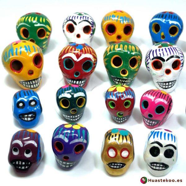 Calaveras Mexicanas (Cerámica, Barro, Arcilla) - Tienda Mexicana Online - Huastekoo.es