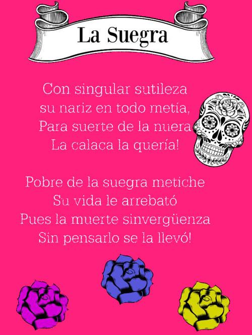 Calaverita Literaria Suegra