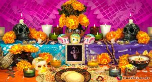 Altar de Día de Muertos en México - Tienda de Artesanías Mexicanas - Huastekoo.es