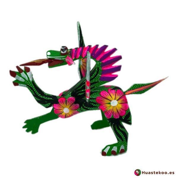 Alebrije Mexicano Estilo Dragón - Tienda de Artesanías Mexicanas - Huastekoo.es - 2