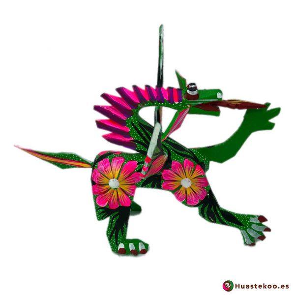 Alebrije Mexicano Estilo Dragón - Tienda de Artesanías Mexicanas - Huastekoo.es - 4