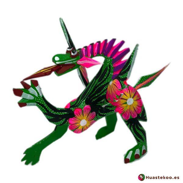 Alebrije Mexicano Estilo Dragón - Tienda de Artesanías Mexicanas - Huastekoo.es