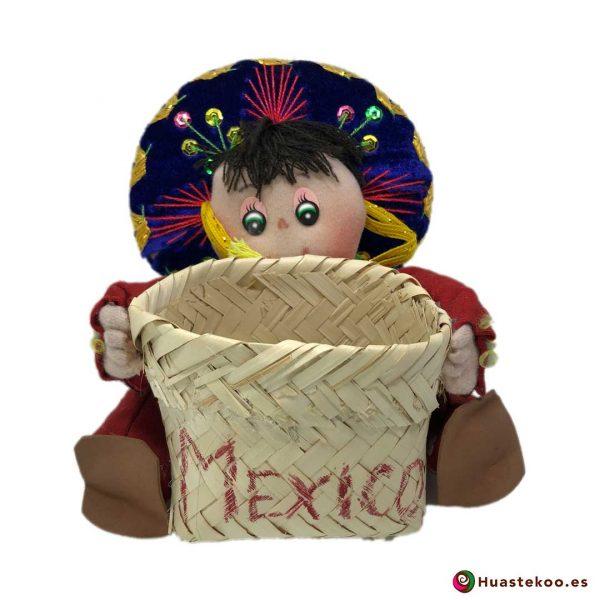 Muñeca Mexicana Artesanal Decorativa Charro A - Tienda Huastekoo.es