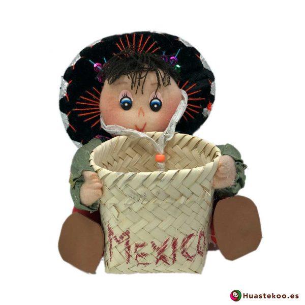 Muñeca Mexicana Artesanal Decorativa Charro B - Tienda Mexicana Huastekoo.es