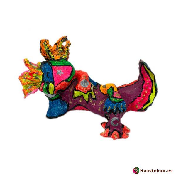 Ajolote Mexicano Decorativo de Papel Hecho a Mano - Tienda Huastekoo España